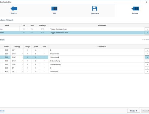 CSV Dateien mit der S7 schreiben: Unser neuer DataReader Lite