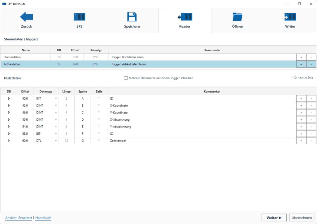 Mit der SPSDataSuite CSV Dateien auslesen