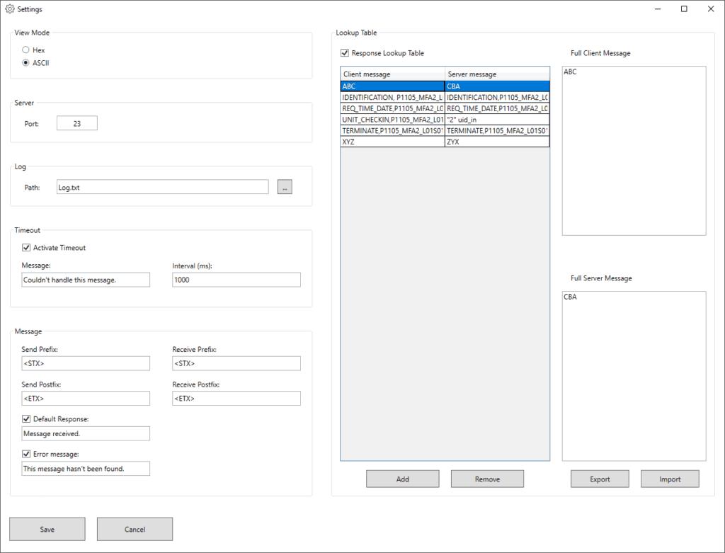 CamLine Simulation konfigurieren