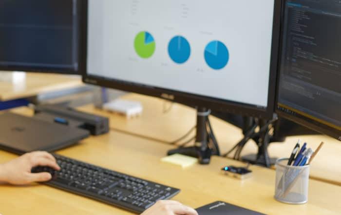Backend mit statistischen Auswertungen