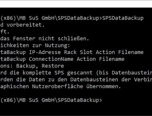 SPSDataBackup – Bedienung per Eingabeaufforderung