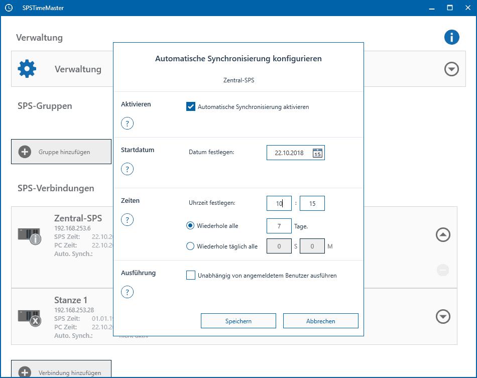 automatisch viele SPS-Steuerungen synchronisieren