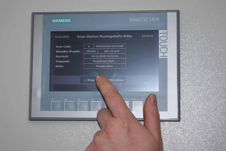 Simatic HMI mit Barcodeleser