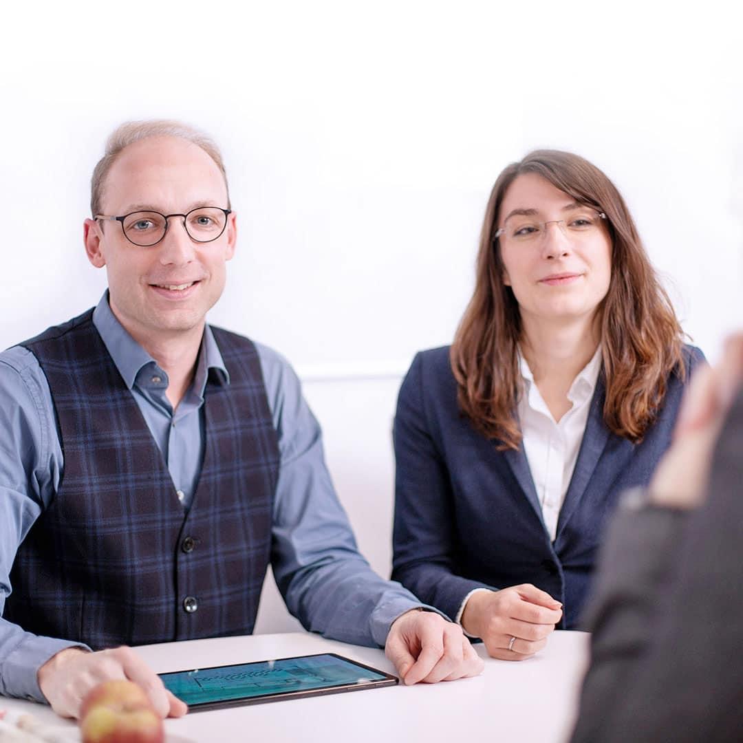 Kundenmeeting MB Software mit Geschäftsführer Markus Bläser und Julia Thiem